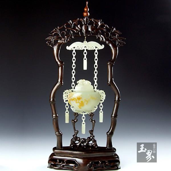 青白玉籽料-福寿