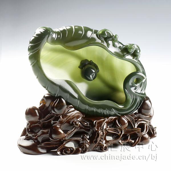 青玉-薄胎蕉叶洗