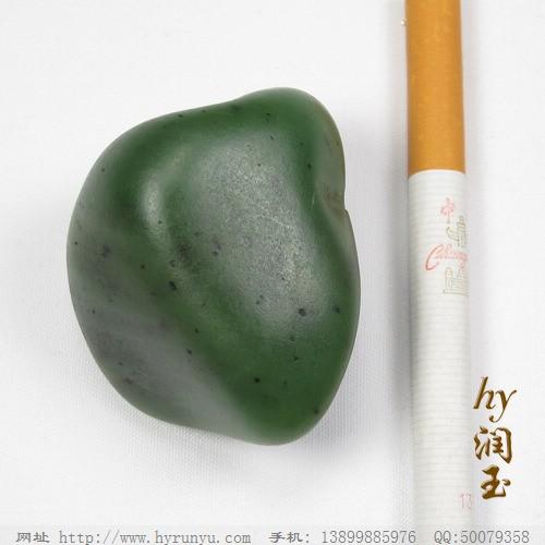 和田玉料 和田玉菠菜绿碧玉籽料73.8克L261图片