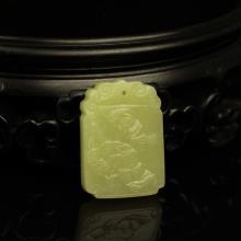黄玉挂件-花开富贵