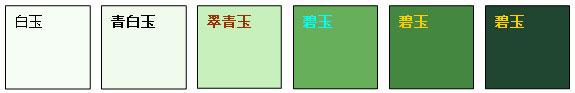 碧玉颜色变化系列样品