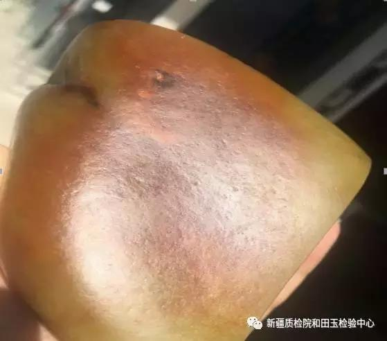子料表面凹凸不匀的汗毛孔