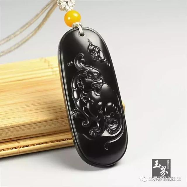 黑青玉子料牌-福寿双全