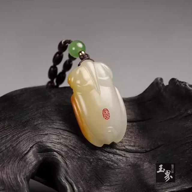 白玉子料-蝉形佩