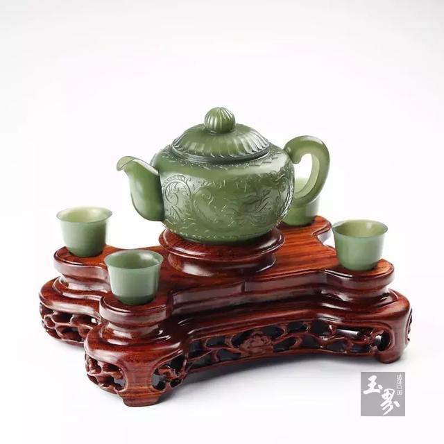 静茗清趣——和田玉茶具